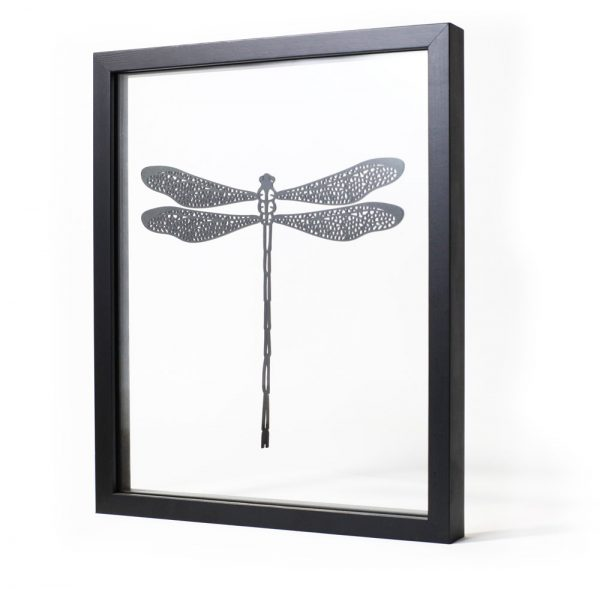 Libellule - cadre design transparent Ornaté