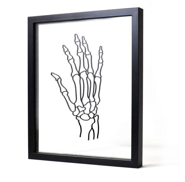 Squelette - tableau déco décalé Ornaté