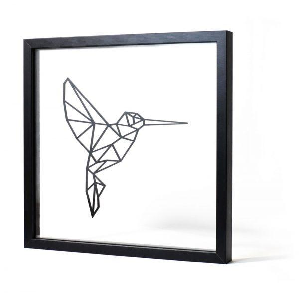 Tableau Géométrique Design Colibri - Ornaté