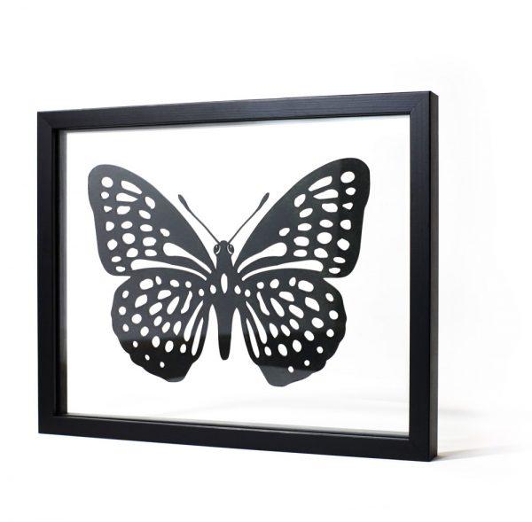 Papillon - tableau design transparent Ornaté