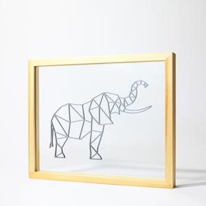 elephant-geometrique-cadre-tableau-ornate-transparent-entre-deux-verres-decoration-enfant-responsive