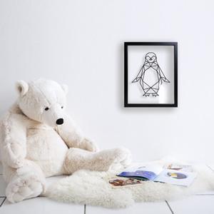 Cadre Chambre d'Enfant Pingouin - Ornaté