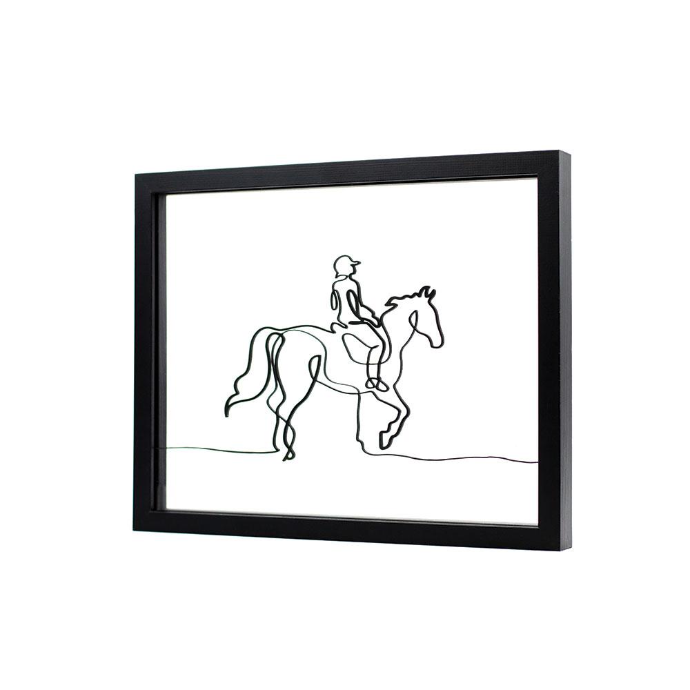 Tableau-cheval-cavalier-deco-ornate