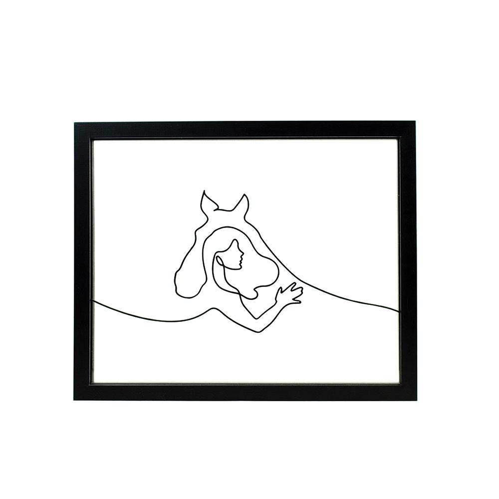 Tableau-cheval-cavalier-deco-ornate-equitation