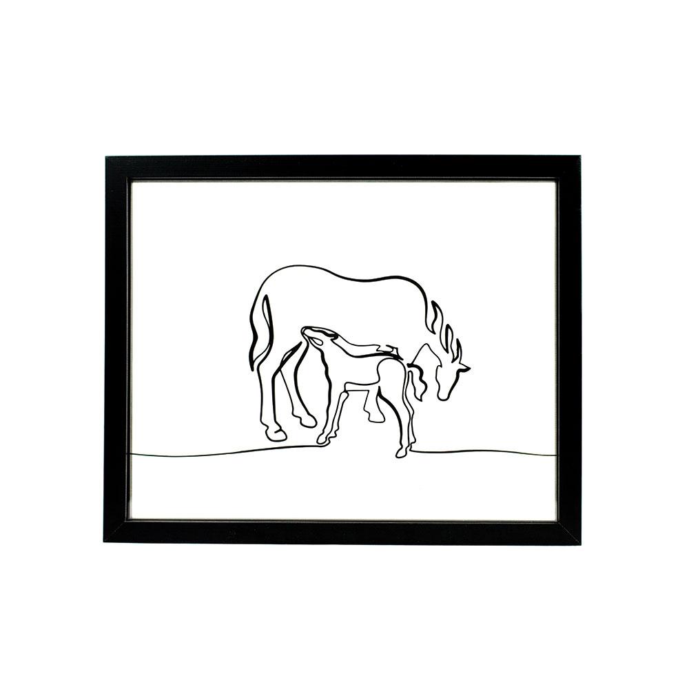Tableau-cheval-cavalier-deco-ornate-equitation-jument